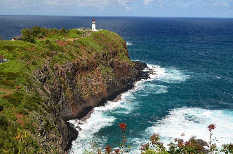 Kilauea Leuchtturm 2011 stockbilder