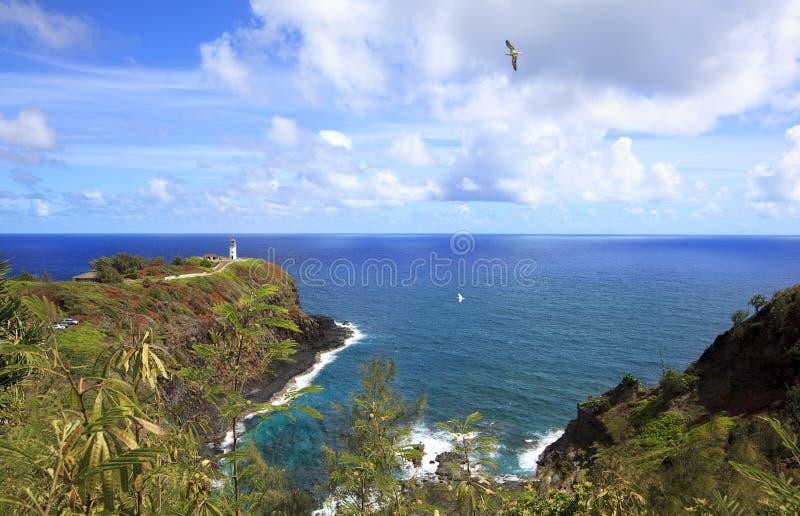Kilauea-Leuchtturm Kauai lizenzfreie stockfotos