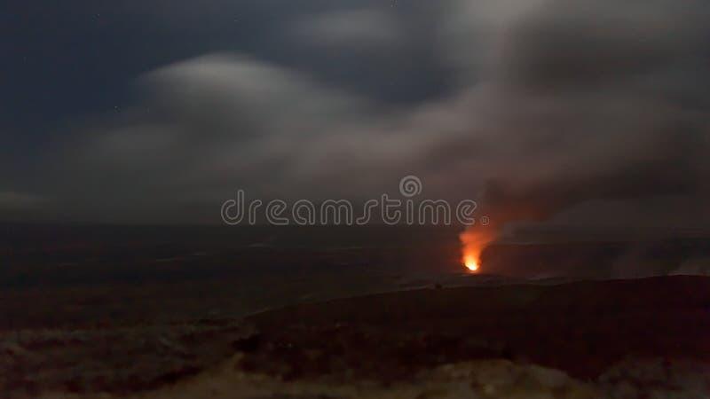 Kilauea obudzenie Wulkanu Park Narodowy, Hawaje fotografia stock