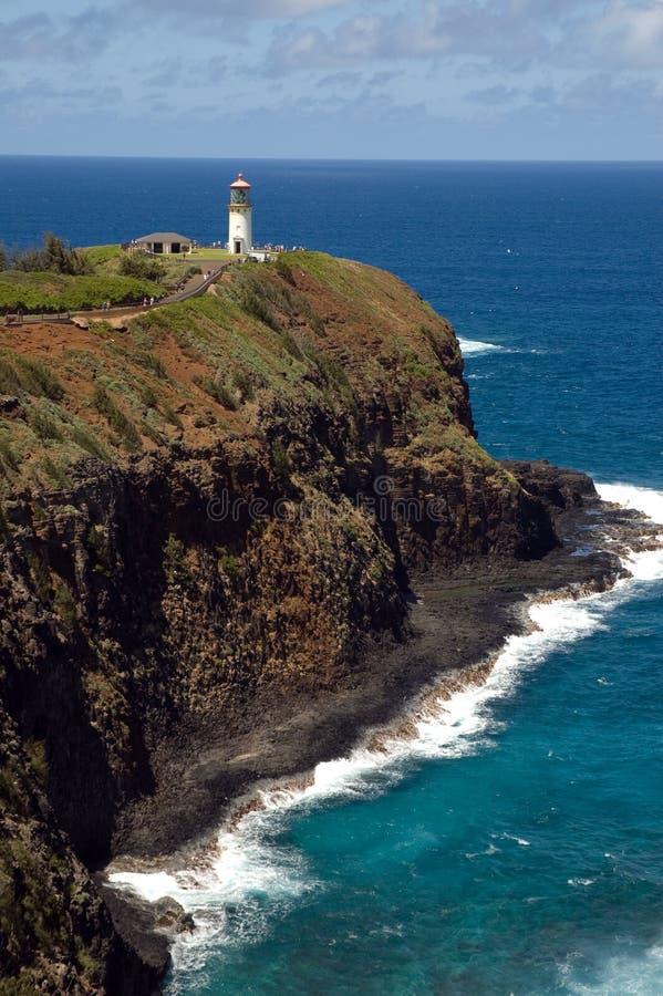 Kilauea Point National Wildlife Refuge. Lighthouse and Wildlife Refuge at Kilauea Point, Kauai, Hawaii stock images