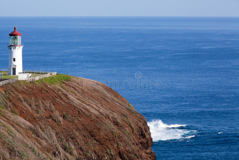 Kilauea-Punkt-Leuchtturm lizenzfreie stockfotos