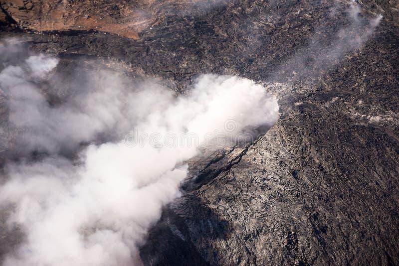 Kilauea Threatens Hawaii Homes royalty free stock photography