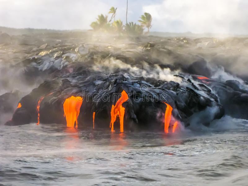 Kilauea Volcano Hawaii photos stock