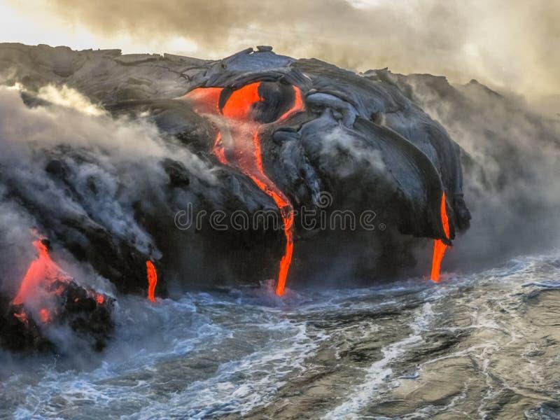 Kilauea Volcano Hawaii photos libres de droits