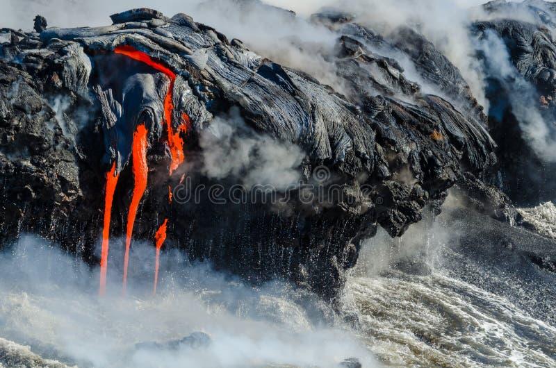 Kilauea Volcano Lava Flow image stock