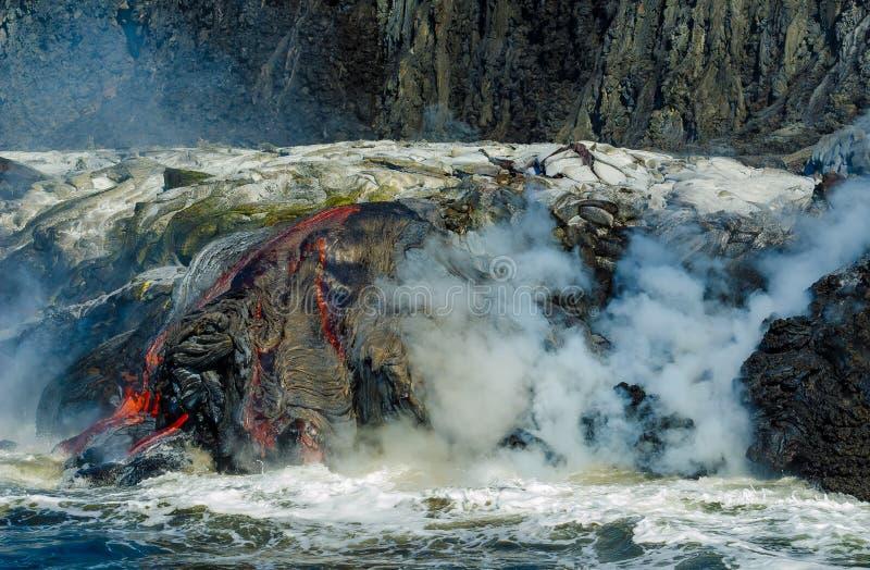 Kilauea Volcano Lava Flow images libres de droits