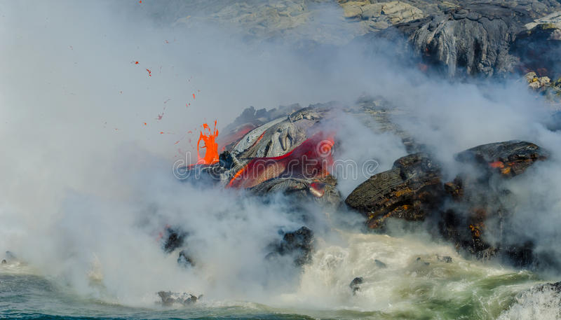 Kilauea Volcano Lava Flow photos libres de droits