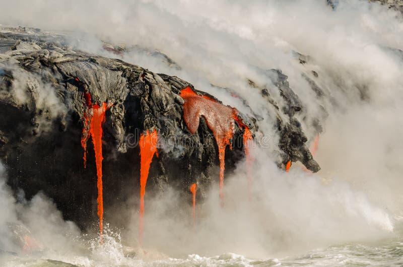 Kilauea Volcano Lava Flow photo stock