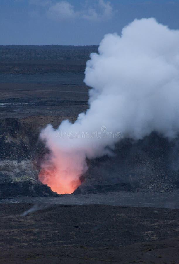 Kilauea Vulkan-Krater-Entlüftungsöffnung, Hawaii stockfotos