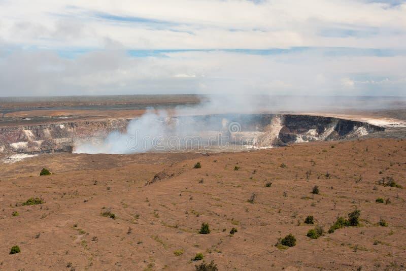 Kilauea-Vulkankrater stockbilder