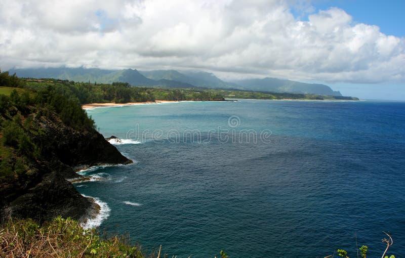 Kilauea Wildlife Refuge. Scenic view of coastal cliffs of Kilauea Point National Wildlife Refuge on Kauai island, Hawaii royalty free stock photography