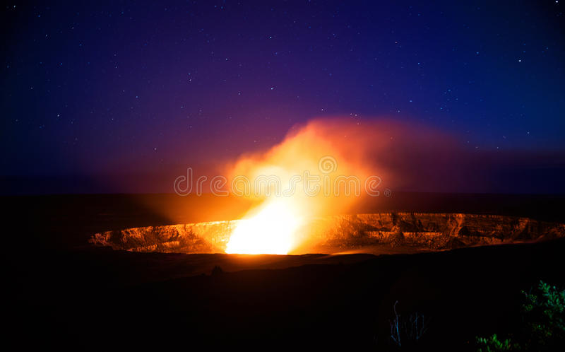 Kilauea wulkan fotografia royalty free