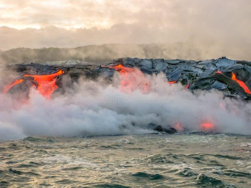 Kilauea wulkan Hawaje zdjęcie stock