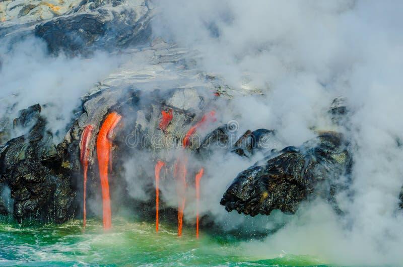 Kilauea wulkanu Lawowy przepływ zdjęcie royalty free