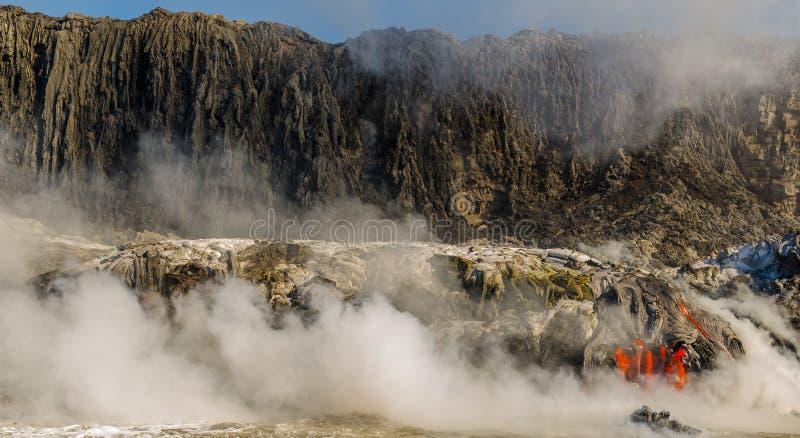 Kilauea wulkanu Lawowy przepływ fotografia stock