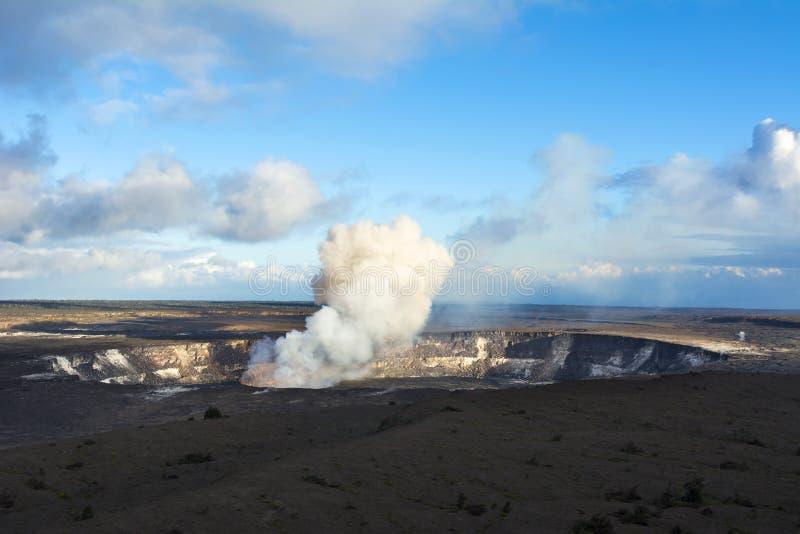 Kilauea wulkanu wybuchać fotografia stock