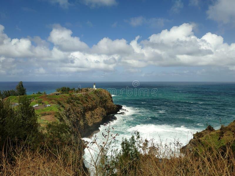 Kilaueavuurtoren, Kauai, Hawaï, de V.S. stock foto