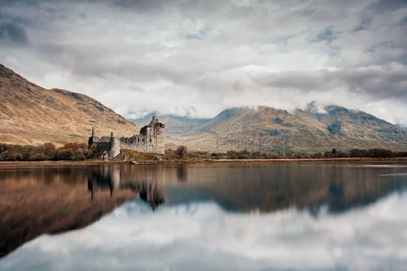 Kilchurn Castle auf Loch Awe in Schottland lizenzfreie stockfotografie