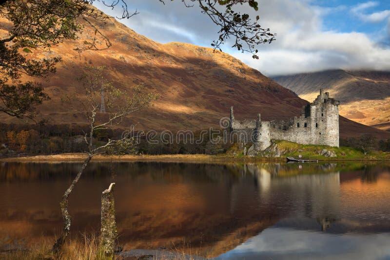 Kilchurn castle on Loch Awe royalty free stock photos