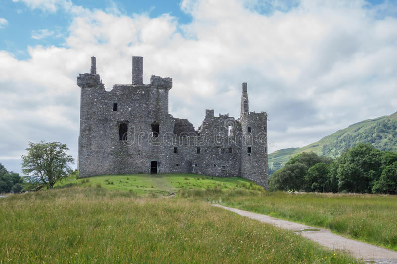 Kilchurn Castle, Loch Awe, Argyll and Bute, Scotland. Ruins of Kilchurn Castle in Loch Awe in Argyll and Bute, Scotland. Kilchurn Castle used to be the home of royalty free stock photos