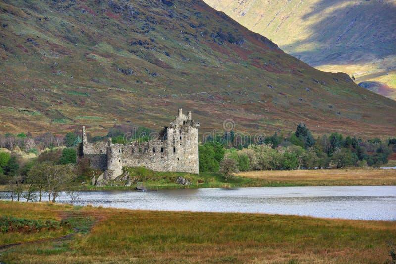 Kilchurn Castle - ruins, Scotland stock images