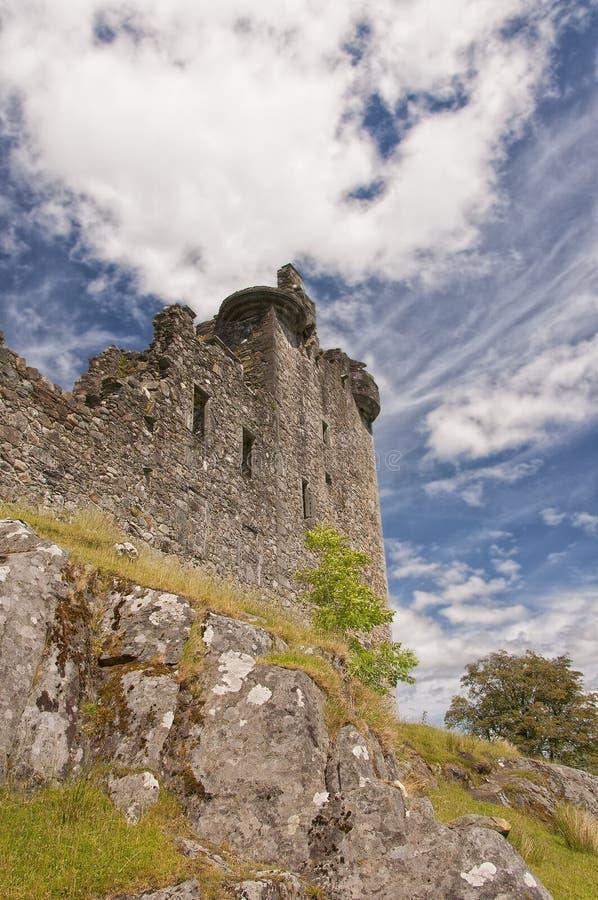 Kilchurn Castle in Scotland stock photos