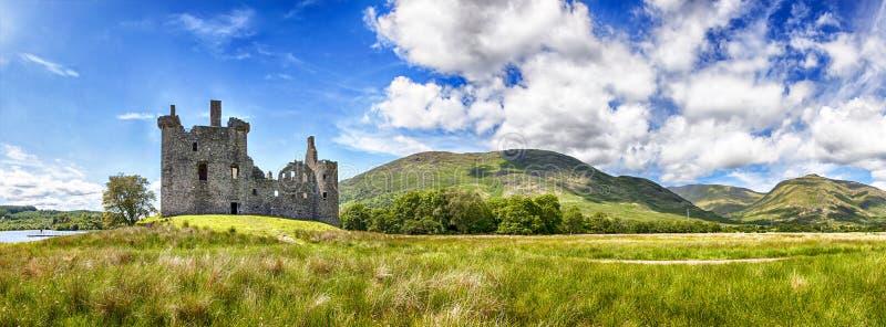 Kilchurn kasztelu ruina obrazy royalty free