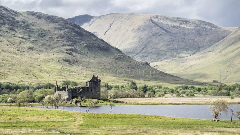 Kilchurn Roszuje blisko Loch respektu, ruiny, Argyll i Bute, Szkocja fotografia stock