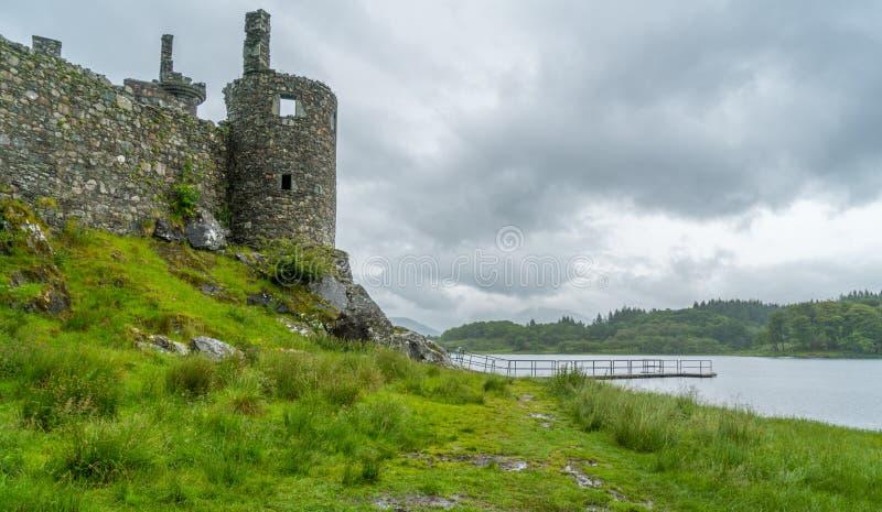 Kilchurn Roszuje blisko Loch respektu, ruiny, Argyll i Bute, Szkocja obrazy stock