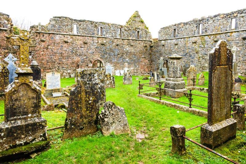 KILCREA, IRELAND - NOVEMBER 28: Kilcrea Friary on November 28, 2012 in Co.Cork, Ireland royalty free stock photo