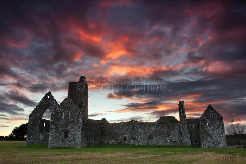 Kilcrea munkkloster nära ugnar, Co kork ireland arkivbilder