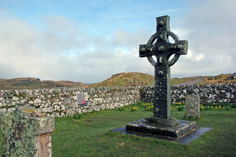 Kildalton十字架,艾拉岛,苏格兰 免版税库存图片