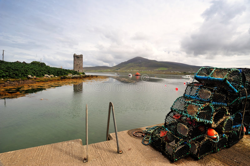 Download Kildavnet Pier stock photo. Image of mayo, travel, pots - 6284128