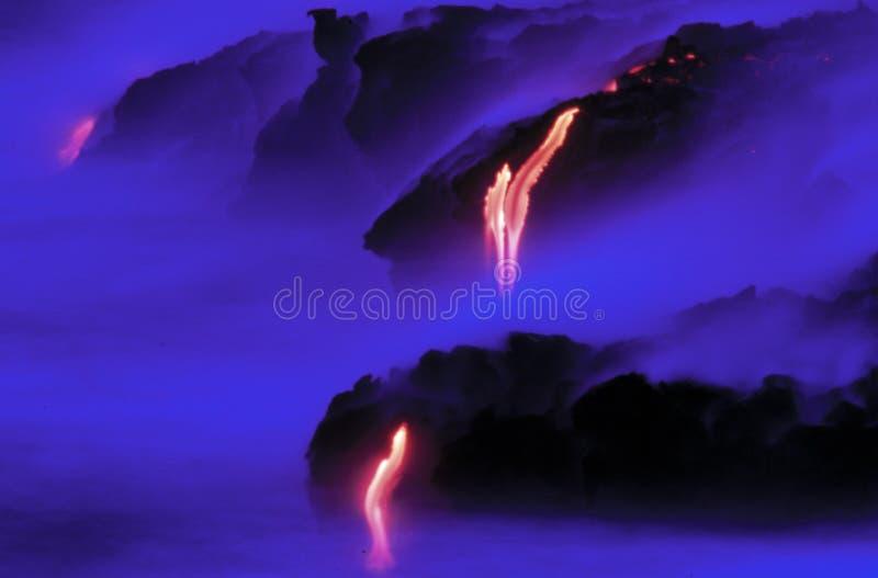 kileauea熔岩火山 免版税库存图片