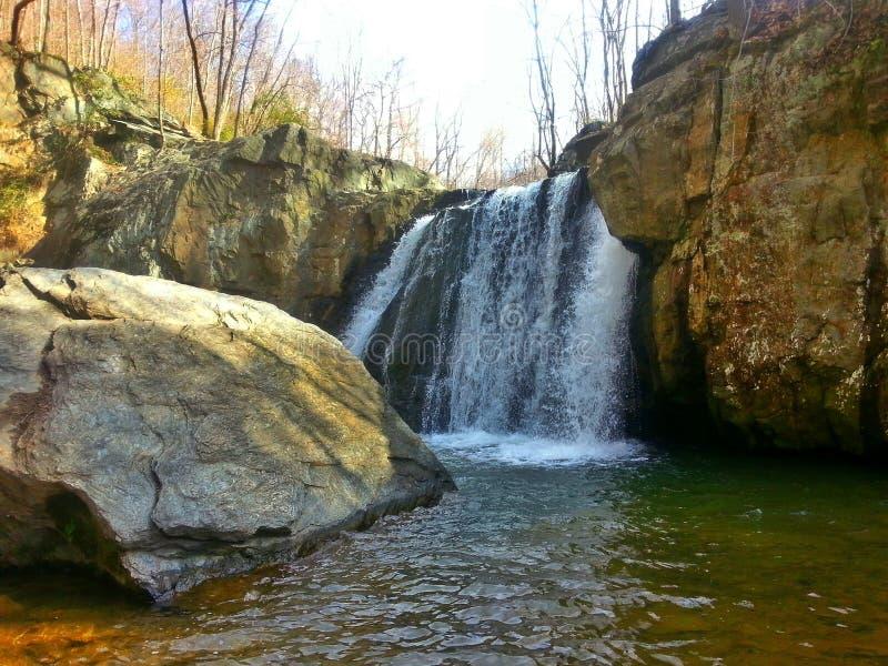 Kilgore秋天,落的分支,岩石国家公园,马里兰 图库摄影