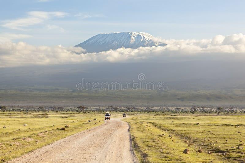 Kilimanjaro com tampão da neve foto de stock royalty free