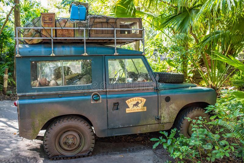 Kilimanjaro safari på djurriketen på Walt Disney World arkivbilder