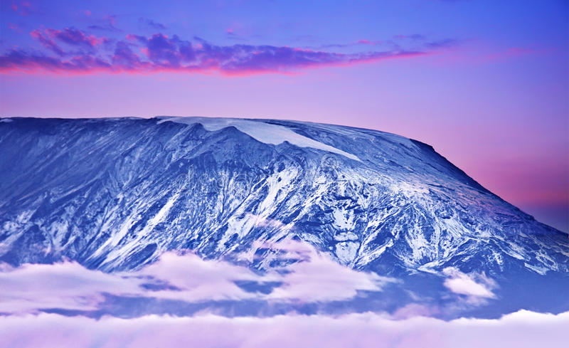 Kilimanjaro Sonnenuntergang stockfoto