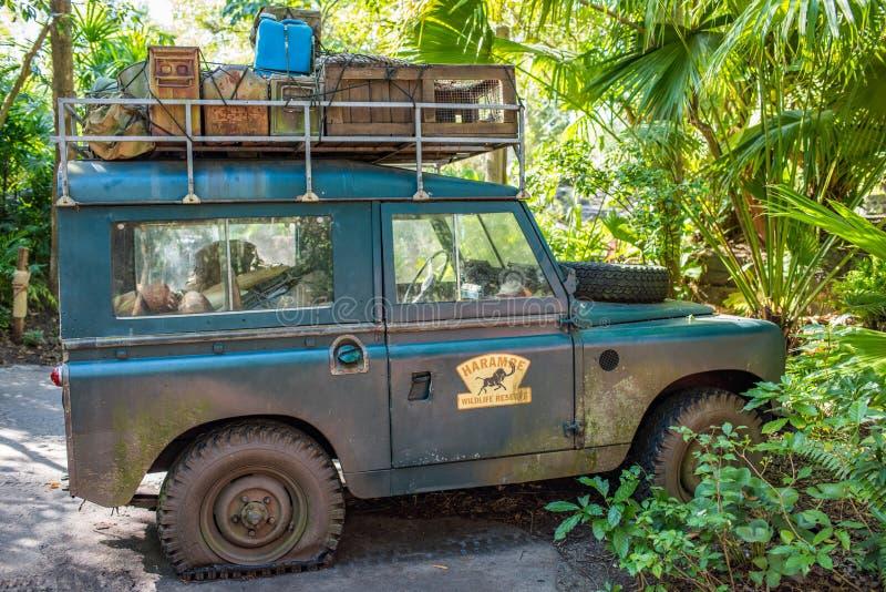 Kilimanjarosafaris bij Dierenrijk in Walt Disney World stock afbeeldingen