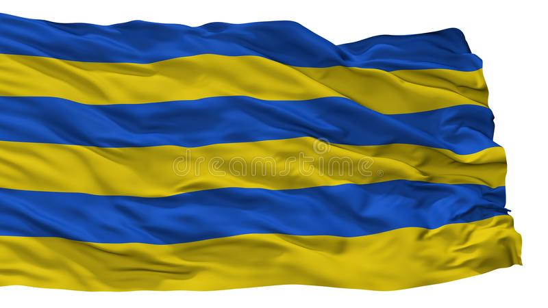 Kilingi Nomme市旗子,爱沙尼亚, Parnu县,隔绝在白色背景 库存例证