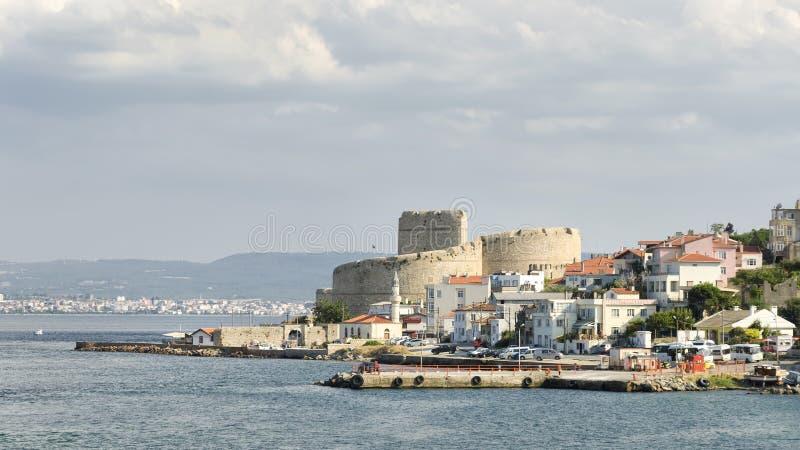 Kilitbahir-Dorf und Kilitbahir-Schloss, Canakkale, die Türkei lizenzfreies stockbild