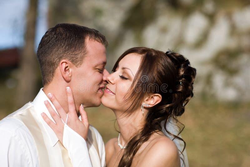 kilka ślubne całowania obrazy royalty free