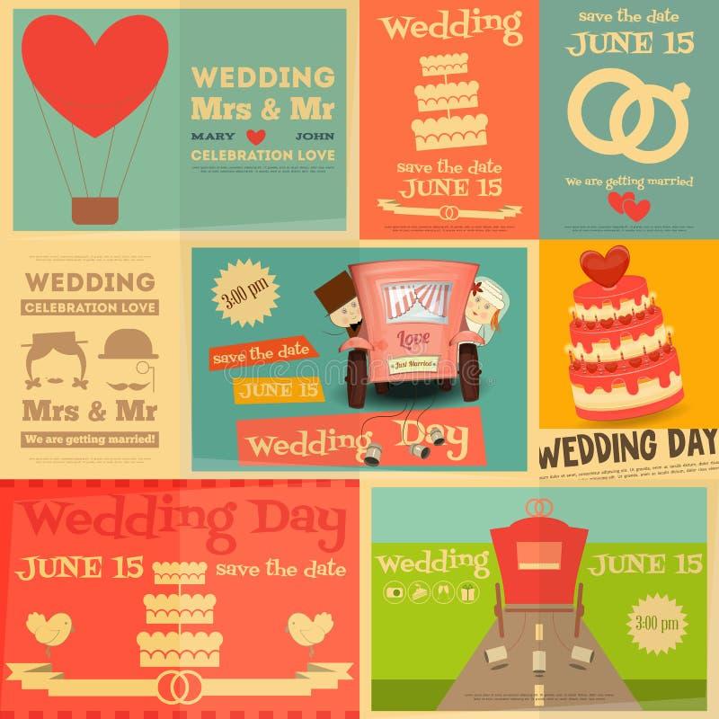 kilka dni ubranie szczęśliwy roczna ślub ilustracja wektor