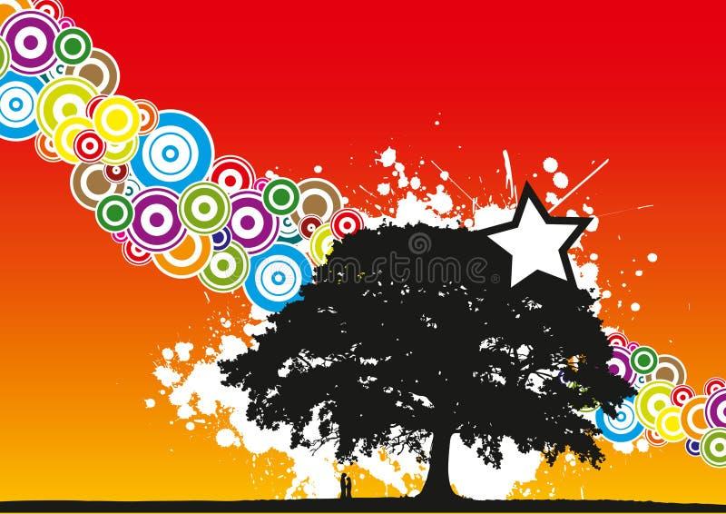 kilka drzewo ilustracji