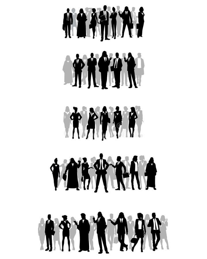 Kilka grupy biznesmeni royalty ilustracja