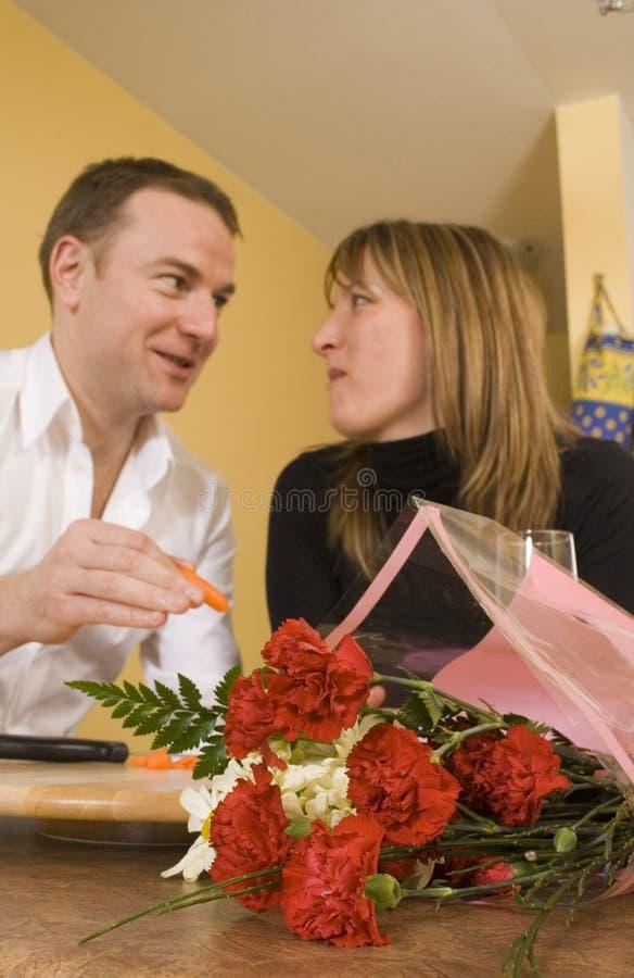 kilka kulinarnej szczęśliwy całowania obraz stock