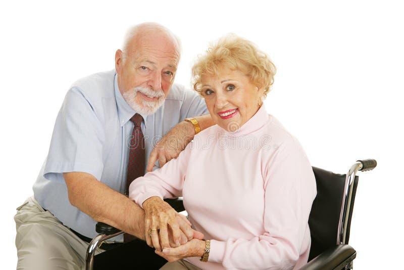 kilka niepełnosprawności, senior zdjęcie royalty free