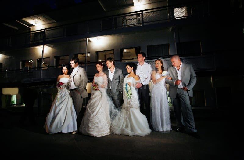 Kilka poślubia dobierają się wpólnie zdjęcie royalty free