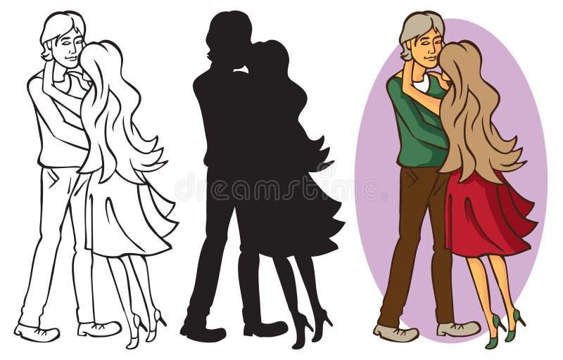 kilka przytulenia miłości royalty ilustracja