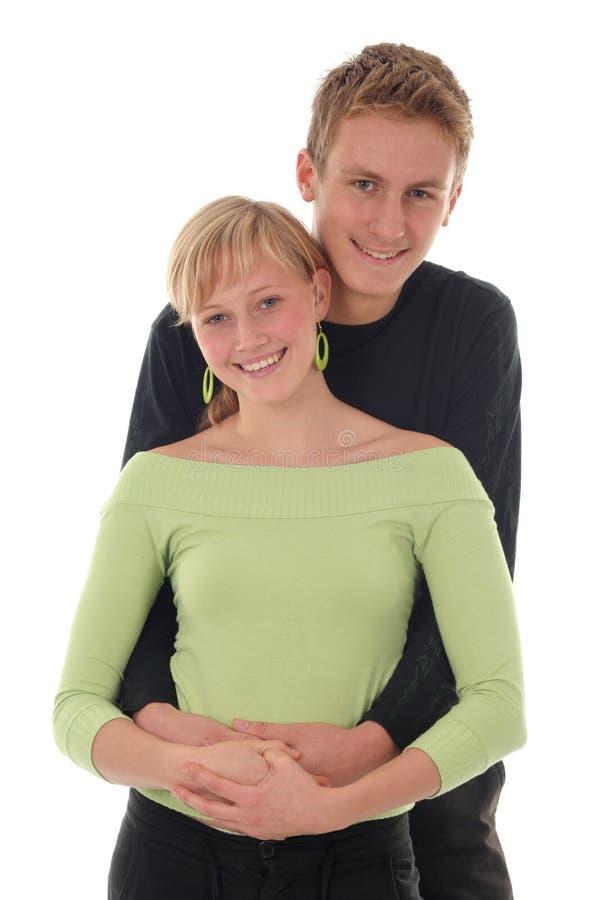 kilka przytulenia szczęśliwe młode fotografia royalty free